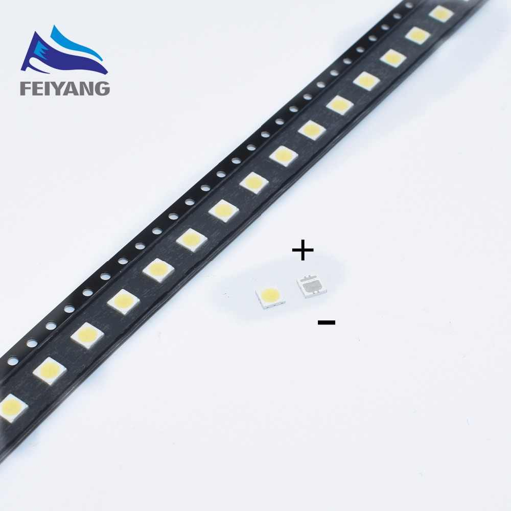 100 Pcs Seoul High Power LED Lampu Latar LED 2W 3535 6V Keren Putih 135LM Aplikasi TV SBWVL2S0E