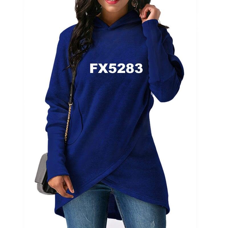 2018 Nova Moda Hoodies Camisolas Impressão Mulheres Femmes Tops Cotton Pockets Casual Impressão Fivela Outono