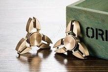 Triอยู่ไม่สุขมือปั่นสามเหลี่ยมTorqbarนิ้วทองเหลืองEDCโฟกัสสมาธิสั้นออทิสติกของเล่น