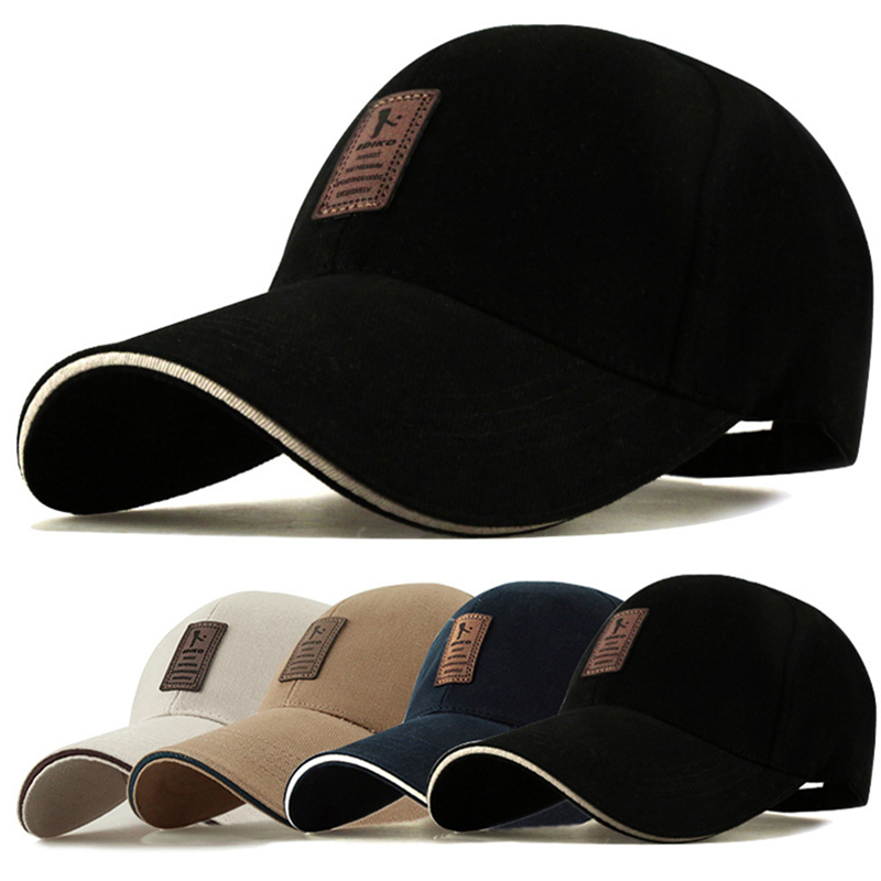 1Piece Baseball Cap Men's Adjustable Cap Casual leisure hats Solid Color Fashion Snapback Summer Fall hat High quality caps