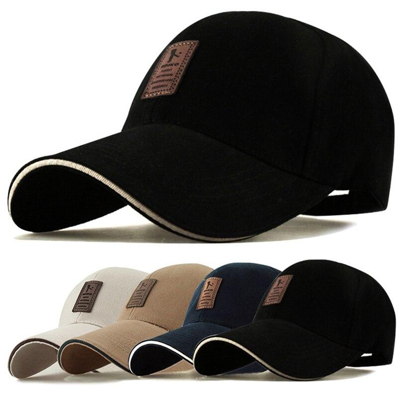 Men's Baseball Cap Adjustable Hat Casual Leisure Hats Solid Color Cotton Fashion Snapback Summer Fall High Quality Baseball Caps