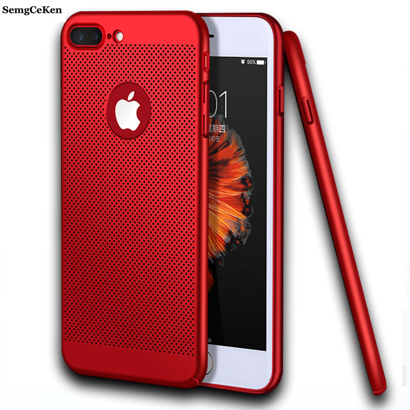 SemgCeKen Cover Case For apple iphone 6 6s 6 s 7 7plus plus thin Skin Phone back Capa Cases red black gold coque eui accessories image