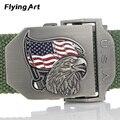 Águila Al Aire Libre engrosamiento cinturón Táctico lienzo equipo automática hebilla de cinturón Para Hombre Mujeres Largo 140 160 cm