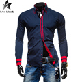 2016 Men's Solid Shirt Long Sleeve Fashion Casual Shirts Camisas Social Men Businesswear Clothing Camisa Masculina M-XXXL HY947