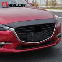3D Karbon Fiber Çizilmeye Karşı Koruma Hood Bonnet Filmi Araba Styling Etiketler Ve Çıkartmaları Mazda 3 Axela 2016 Için 2017 Aksesuarları