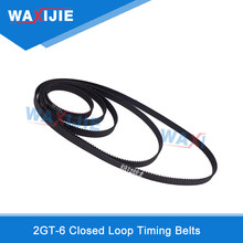 Waxijie 2GT 6mm Closed Loop Synchronous Belt GT2 Timing Belts 3D Printer Accessories Rubber Transmission Gear 6mm Wheel Belt(China)