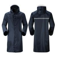Casual Adults Waterproof Raincoat Lightweight Hooded Rain Ankle Length Coat Rainy Day WindCoat Loose All Season