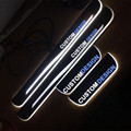 Cool!!! 4pcs  custom illuminate front rear door Sill Scuff Plate sticker for Ford Ford Taurus 2013 2014 2015 2016