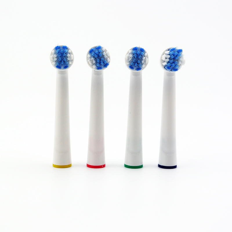 Free shipping 8 pcs Teeth Clean Electric Tooth Brushes YE624 Replacement Toothbrush Heads Double Rings Fits for Oral B image