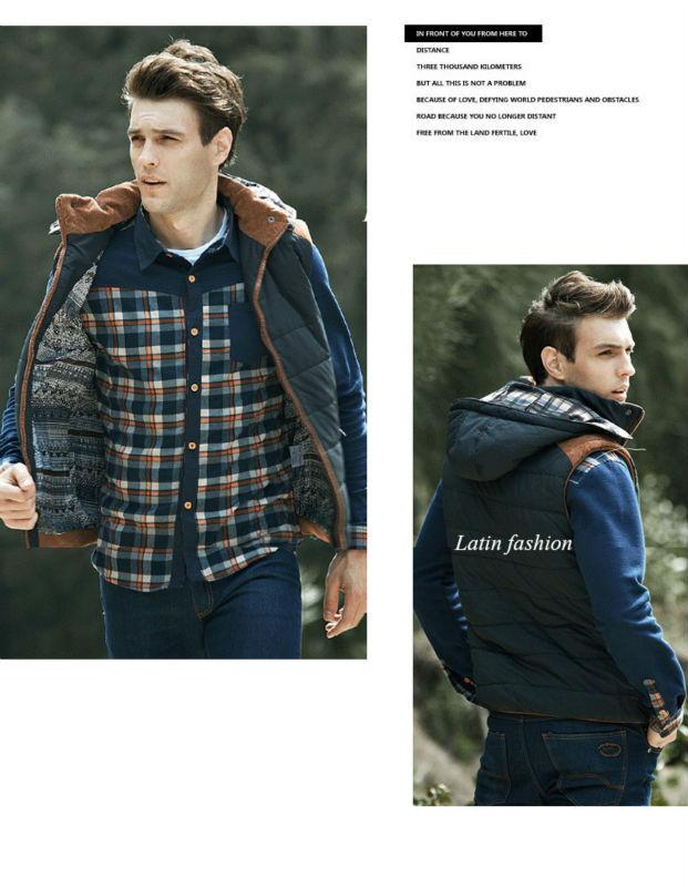 Free Shipping Mens Fishing Sleeveless Jacket Denim Outdoor Casual Casual Multi-pocket r Clothing Waistcoat Brand Winter Men VestE11662-10