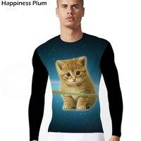 Space Galaxy Cat T Shirt Men Brand T Shirt Funny 3d Print Cool Summer Tops Tees