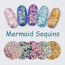 New 1Bag Colorful Mermaid Sequins Solvent Resistant Nail Glitters Chameleon Nail Sequins Sparkle Manicure 3D Nail Art Decoration