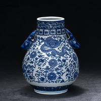 Blue and white porcelain vases Jingdezhen Antique Chinese decorations home living room antique flower arranging vase