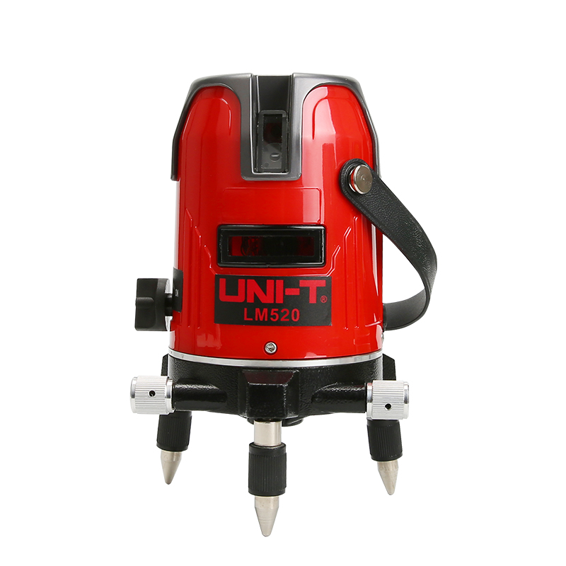UNI T LM520 LM520G Laser Level Meter 2 Red/Green cross Lines Three Points 360 Degrees Rotary mini portable laser Self-Leveling professional 2 lines 2 points 360 rotary cross laser line leveling self leveling precision laser level kit with tripod