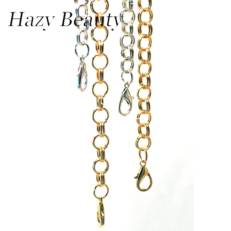 Hazy beauty fully handmade metal twist design women bag chain super chic lady 60cm length silver or gold buckle bag strap A478 titanium multifunction buckle key chain kettle buckle never rust super light wear resistance outdoor travel essential equipment