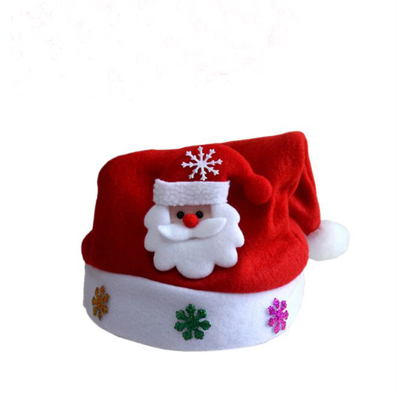 XEONGKVI Foreign Christmas Hats Gift Santa Claus Cartoon Parent-child   Skullies     Beanies   Red Children Adult Christmas Hat