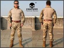 Emerson Gen2 Combat Uniform Set Military Combat Shirt & Pants with knee pad & elbow pad A-Tacs Camo EM6912