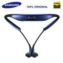 سماعات سامسونج ليفل يو اللاسلكية المزودة بتقنية البلوتوث 4.1 مزودة بميكروفون سماعات رأس ستيريو للأذن لهواتف/8 Plus Galaxy 8