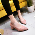 2017 Spring Women Low Heel Pumps Shoes Shallow Month Lady Work Shoes Pointed Toe All Match Work Pumps 5 CM