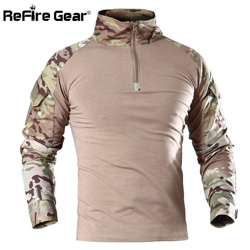 Han Wild Gear Camouflage Army T-shirt Men Ru Soldiers Combat Tactical T Shirt Military Force Multicam Camo Long Sleeve T Shirt Orologi E Gioielli