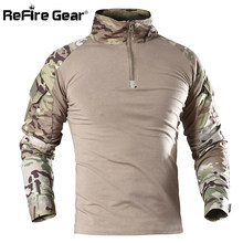 411ab124 ReFire Gear US Army Military Uniform Combat Shirt Men Assault Tactical  Camouflage T Shirt Airsoft Paintball