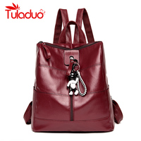 Women Backpacks Solid High Quality PU Leather Backpack Women Designer School Bags For Teenagers Girls Luxury