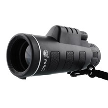 Caliente negro PANDA 40 X 60 Focus Zoom óptica Len Monocular telescopio portátil de viaje exterior caza
