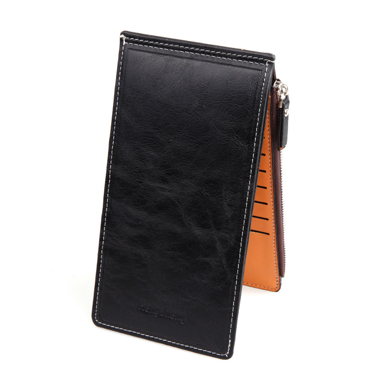 2017 new  Women men fashion zipper purses lady big capacity Long Wallets female PU Leather clutch bag credit cards Holder wallet