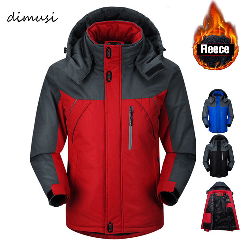 DIMUSI Winter Jacket Men Parka Thermal Fleece jacket   Coats   Men jackets Windbreaker jaqueta Windproof Waterproof   Coats   Men 5XL