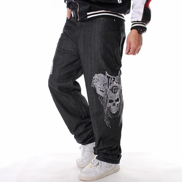 Skull Embroidery Black Jeans Men Famous Brand 2019 Clothes Hip Hop Pants Men's Trousers Classic Vintage Denim Vliegenverjager