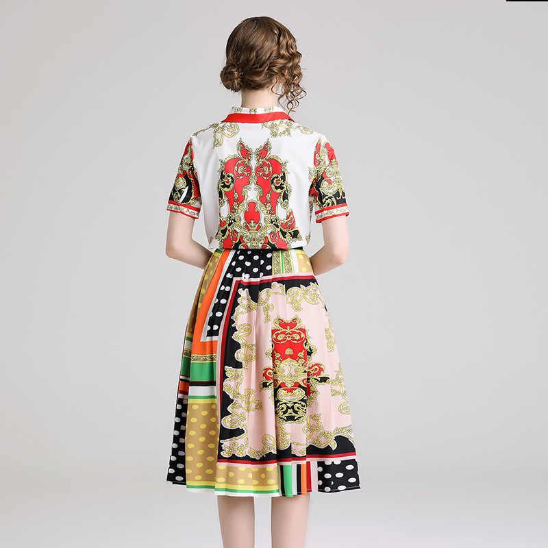 2019 جديد السيدات الصيف أزياء المرأة اللباس التلبيب طباعة ضئيلة قصيرة الأكمام قميص لزيادة فستان محكم من عند الصدر ويتدلى بشكل واسع صغيرة العطر