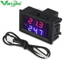 1209WK DC12V Digital Temperature Controller Mini Thermostat C/F Thermometer Regulator Thermo Controller Switch