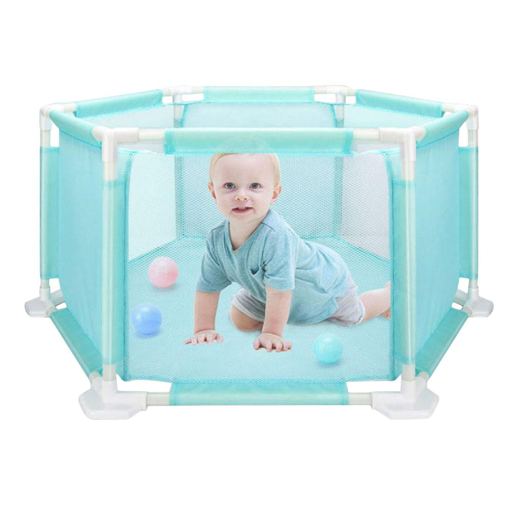 цена Baby Hexagona Playpen Portable Plastic Fencing For Children Folding Baby Safety Fence Barriers For Infant Safe Crawling
