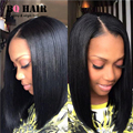 BQ Mink 8A Brazilian Virgin Hair Short Bob Hair For Black Women 8-28 Inches 3 Bundles Straight 100% Virgin Unprocessed Hair #1B