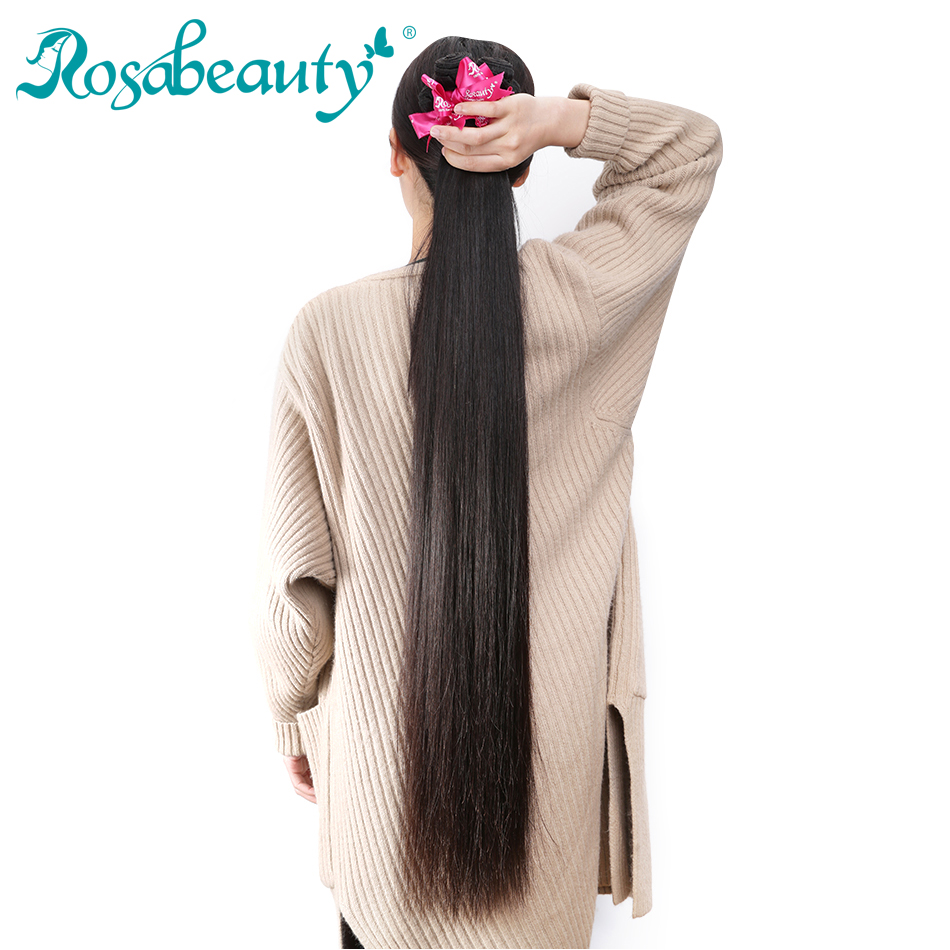 Rosabeauty Hair Products RAW Straight Virgin Hair Natural Color Longer Length 1 Piece30 36 Human Hair