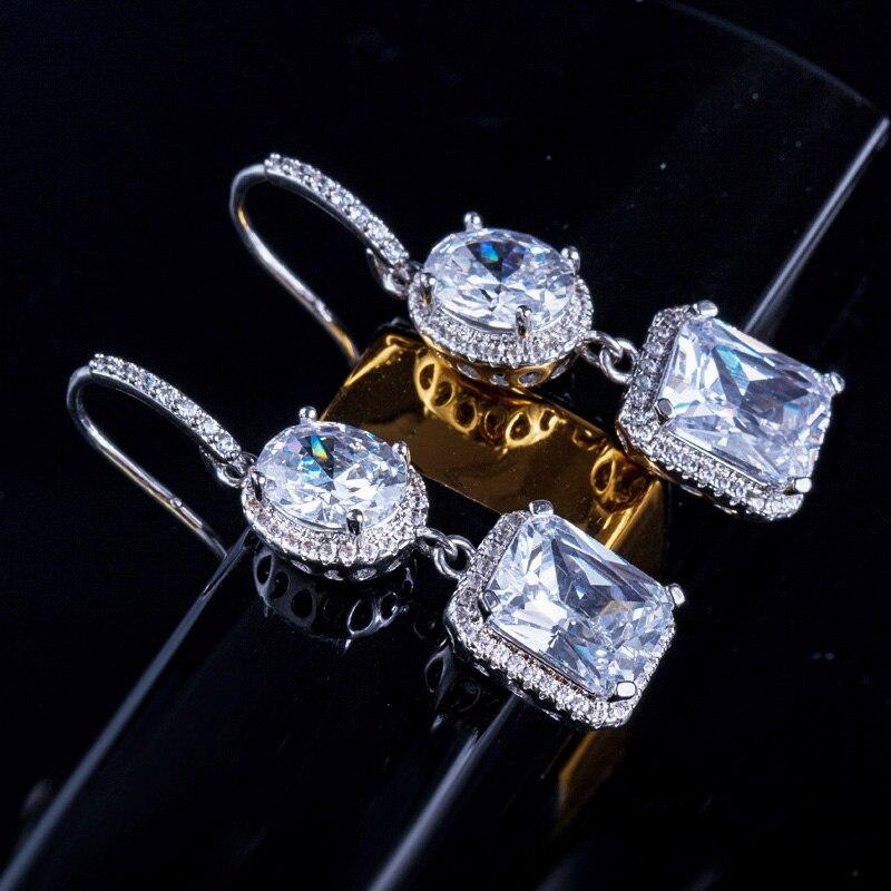 Yellow Crystal Drop Earrings 4