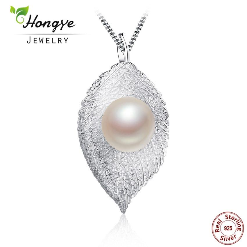 """""""Hongye"""" mados 925 sidabro perlų pakabukas moterims, natūralus gėlavandenių perlų pakabukas, karoliai, papuošalų dizainas, papuošalų pristatymas nemokamai."""