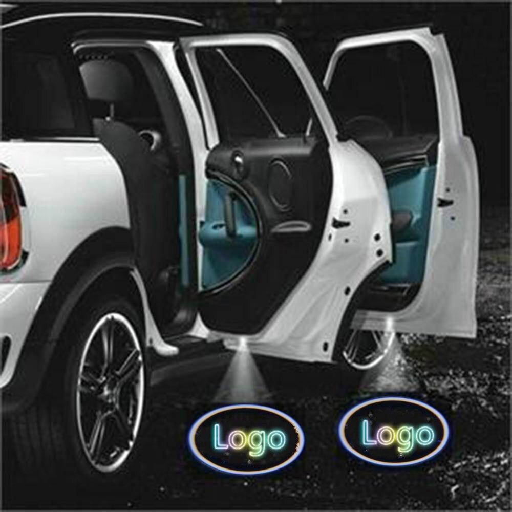 JURUS Led COCHE luz de la puerta Logo Proyector láser lámpara de la sombra del fantasma para Vw para Toyota coche Renault -estilo