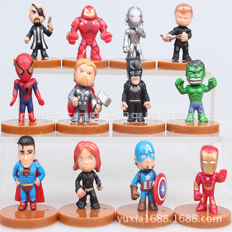 Action Toys For Boys : Dhl set the avengers miniatures marvel pvc action