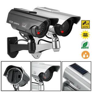 Image 2 - الطاقة الشمسية وهمية وهمية الأمن الأحمر LED CCTV كاميرا بجهاز اقتران الشحنات مراقبة المتغيرات