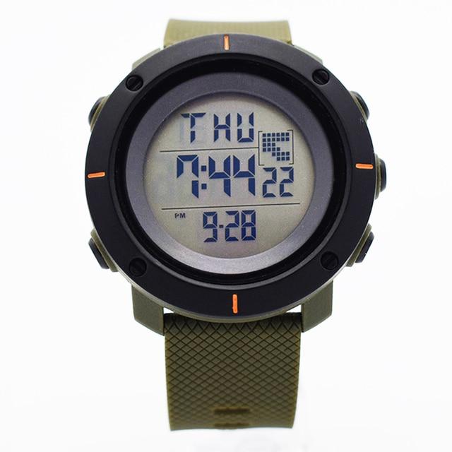 Verde impermeable digital relojes automáticos para hombres digitais reloj  corriendo mens hombre reloj aerodinámico barato útil 2522017a062a