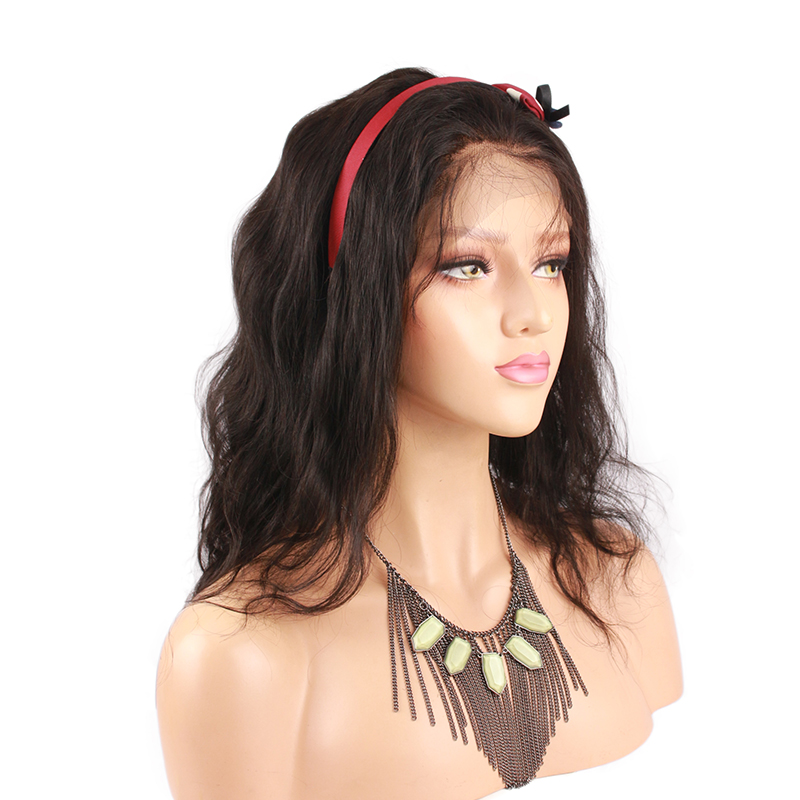 Short Body Wave Full Lace Wigs Human Hair With Baby Hair For Black Women 180 Density Remy Human Hair Wigs Pre Plucked Eseewigs
