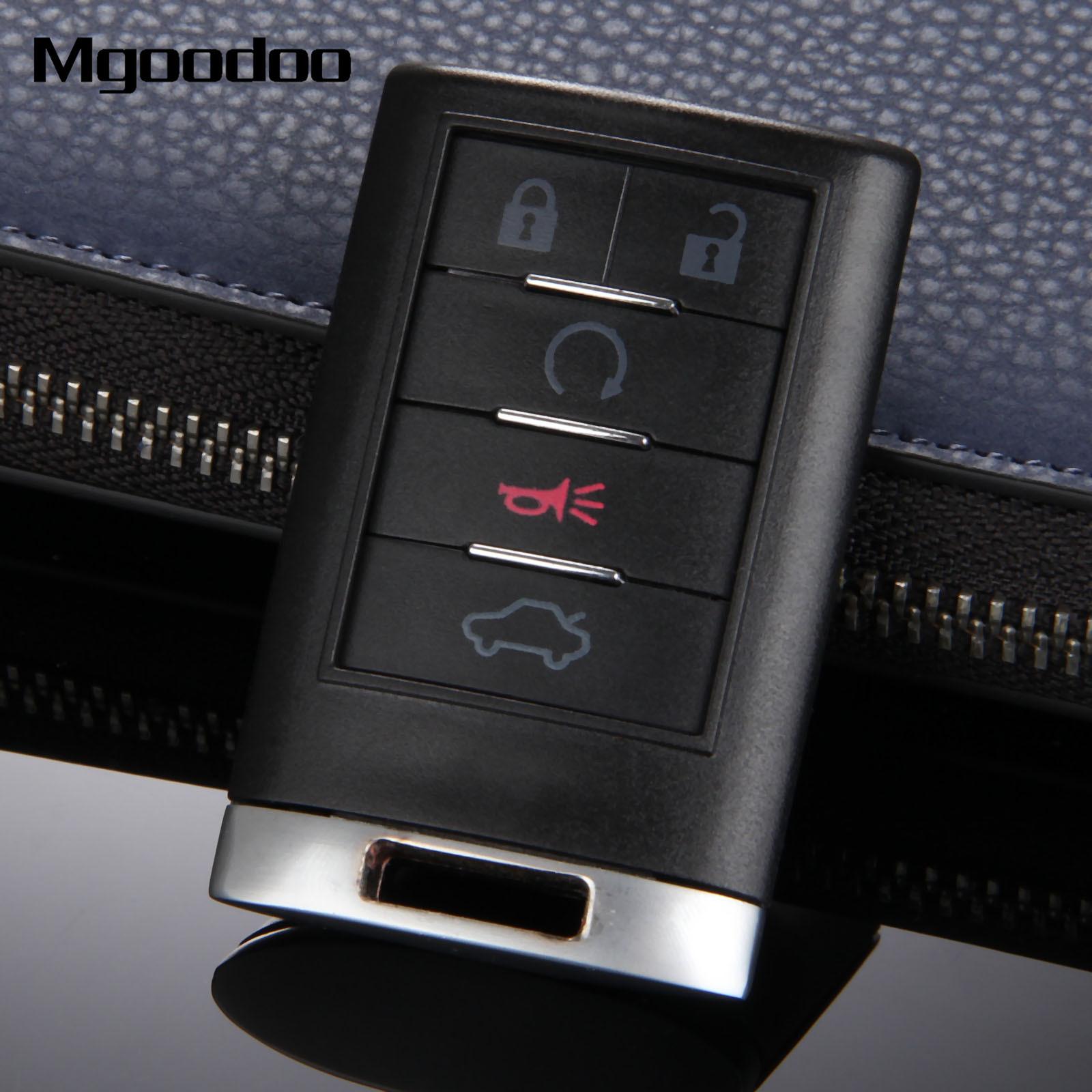 Mgoodoo 5 button keyless smart remote key shell case for cadillac cts dts sts escalade car