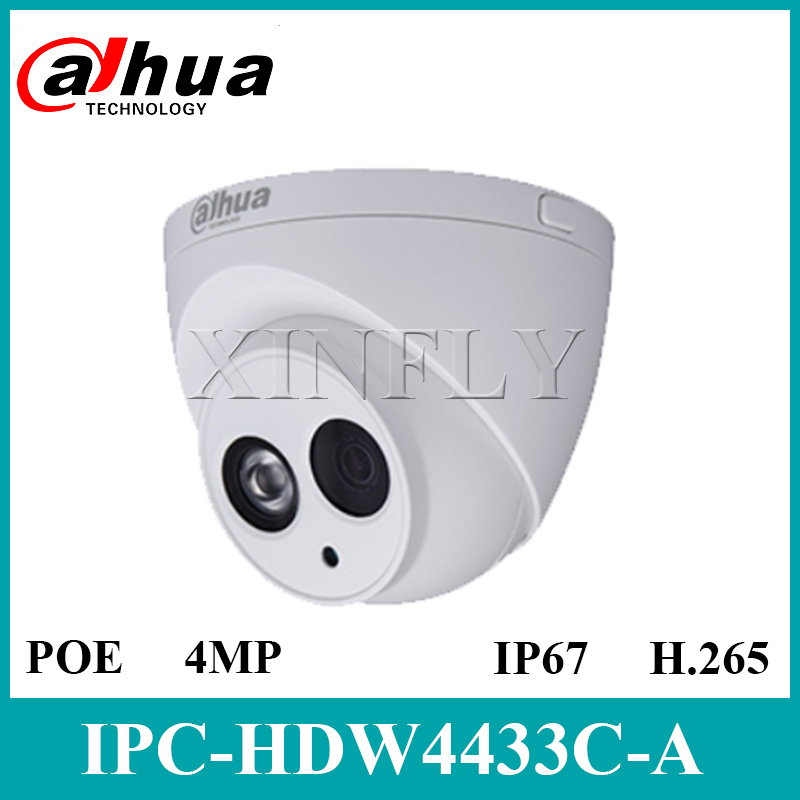 FAST SHIPPING Dahua IPC-HDW4433C-A 4MP POE Network CCTV IP Camera 2.8mm 3.6mm Built-in MIC