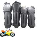 Black Motorcycle Moto Protective Knee Elbow Shin Arm Guard Brace Pads Adult Kits Motocross protection Equipment