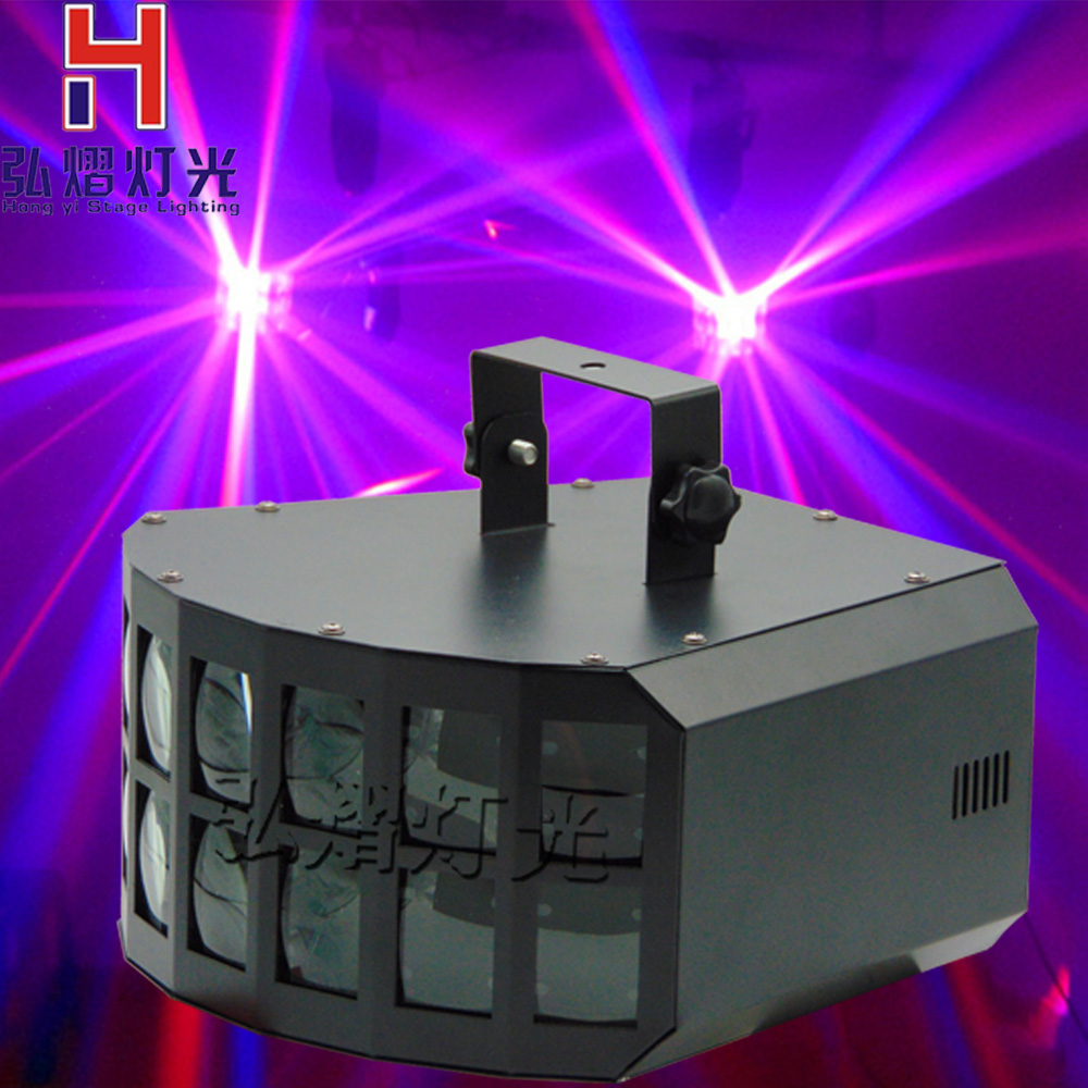 New LED Stage LED Disco Double Butterfly Effect Light Stage Light RGBW DMX512 Party Lamp for DJ Disco Party KTV niugul rgbw led double butterfly 4in1 led stage effect lights party disco dmx512 led stage lamp dj equipment ktv party lights