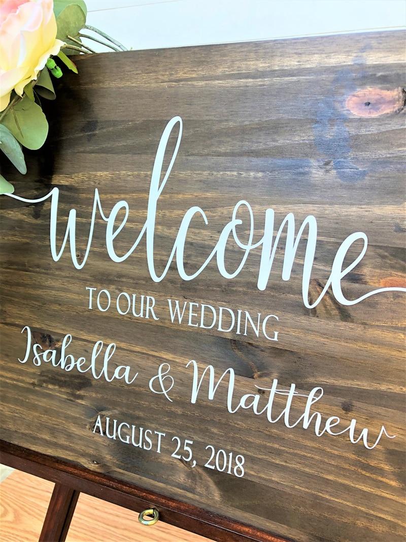 Sinal de boas-vindas do casamento decalques de