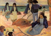 High quality Oil painting Canvas Reproductions The Kelp Gatherers (1889) by Paul Gauguin hand painted