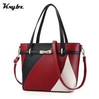 KXYBZ Fashion Hit Color Patchwork Women Shoulder Bags Autumn Winter Trend Wild Luxury Feminina Handbags Ladies