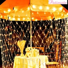 PATIMATE 220V Warm White Light Net Mesh Fairy Garland LED String Wedding Decoration Rustic Party & Events